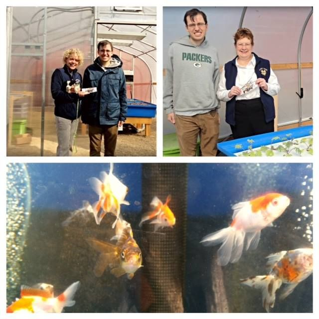 We were excited to greet Amy Gillan and Barbara Sutton, winners of our ND-USC ticket drawing, to the greenhouse yesterday to pick up their tickets - and meet our fish! Even Chris' new puppy enjoyed the meet-up! Congrats Amy and Barb, and thanks to both of you for your terrific support and your visit to the greenhouse. Made our day!