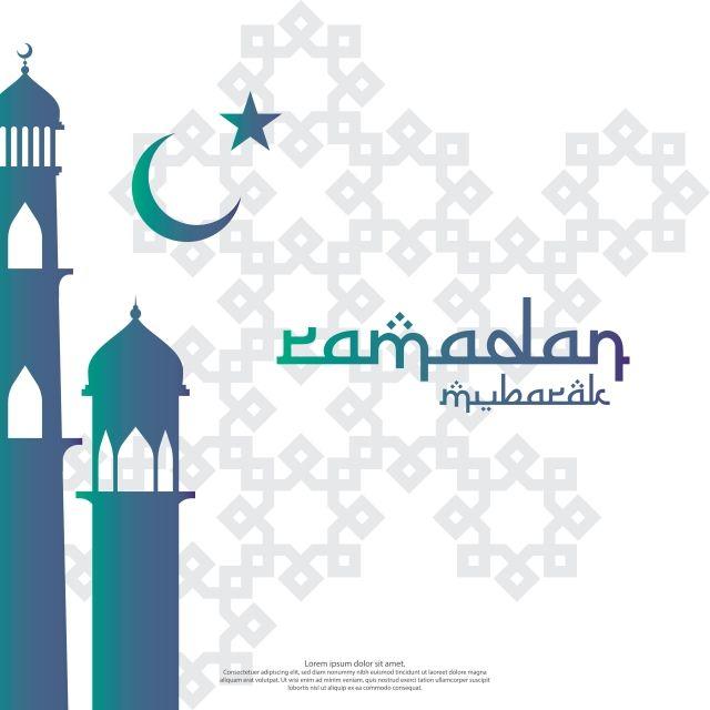 Islamic Design Concept Ramadan Kareem Or Eid Mubarak Invitation