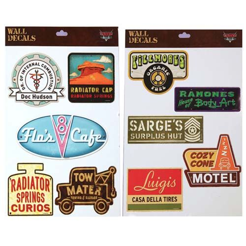 Your WDW Store - Disney Wall Decals - Radiator Springs - Cars