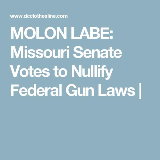 MOLON LABE: Missouri Senate Votes to Nullify Federal Gun Laws |