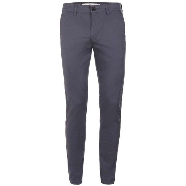 TOPMAN Antioch Blue Ombre Stretch Skinny Fit Chinos ($31) ❤ liked on Polyvore featuring men's fashion, men's clothing, men's pants, men's casual pants, blue, mens chino pants, mens skinny chino pants, mens skinny pants, mens blue chino pants and mens chinos pants