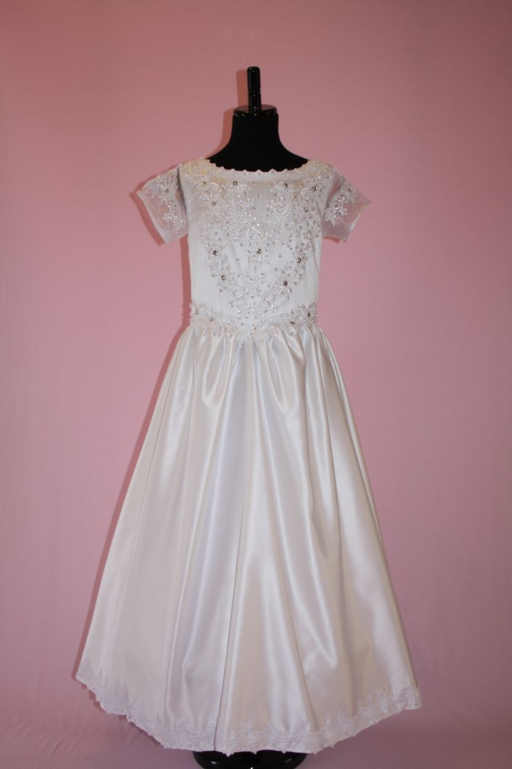 First Communion/Flower Girl Dresses from Silk n Satin Communion Dresses. $64.95 https://silknsatincommuniondresses.com.au/product/angela/