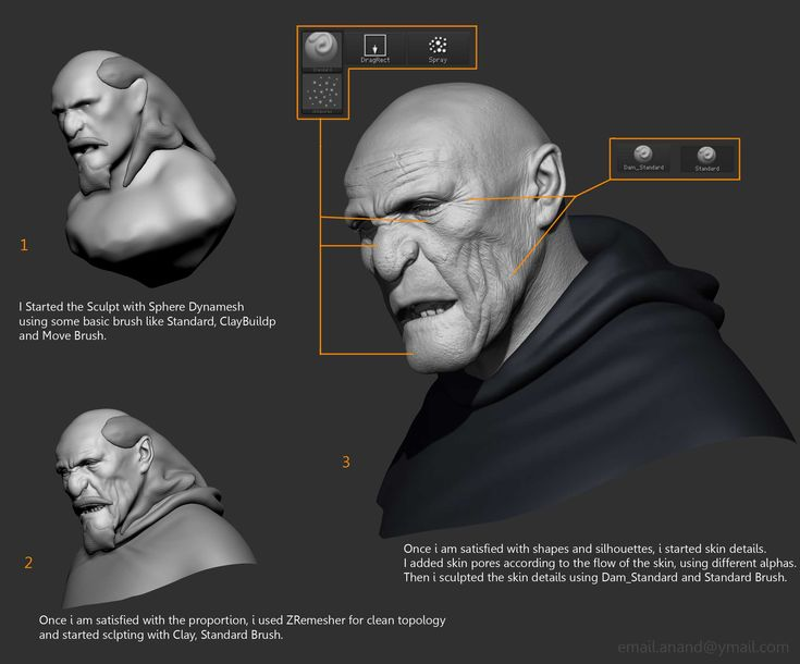 Fan Art - Page 2 zbrush pores