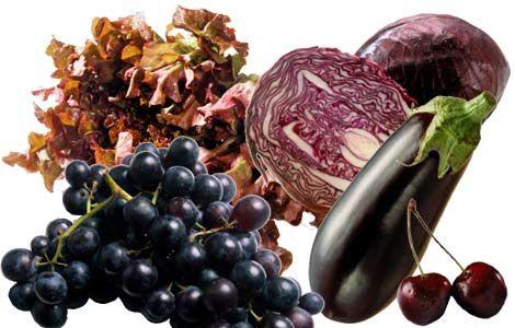 A influência das cores na alimentação . Os alimentos roxos previnem doenças cardíacas e câncer