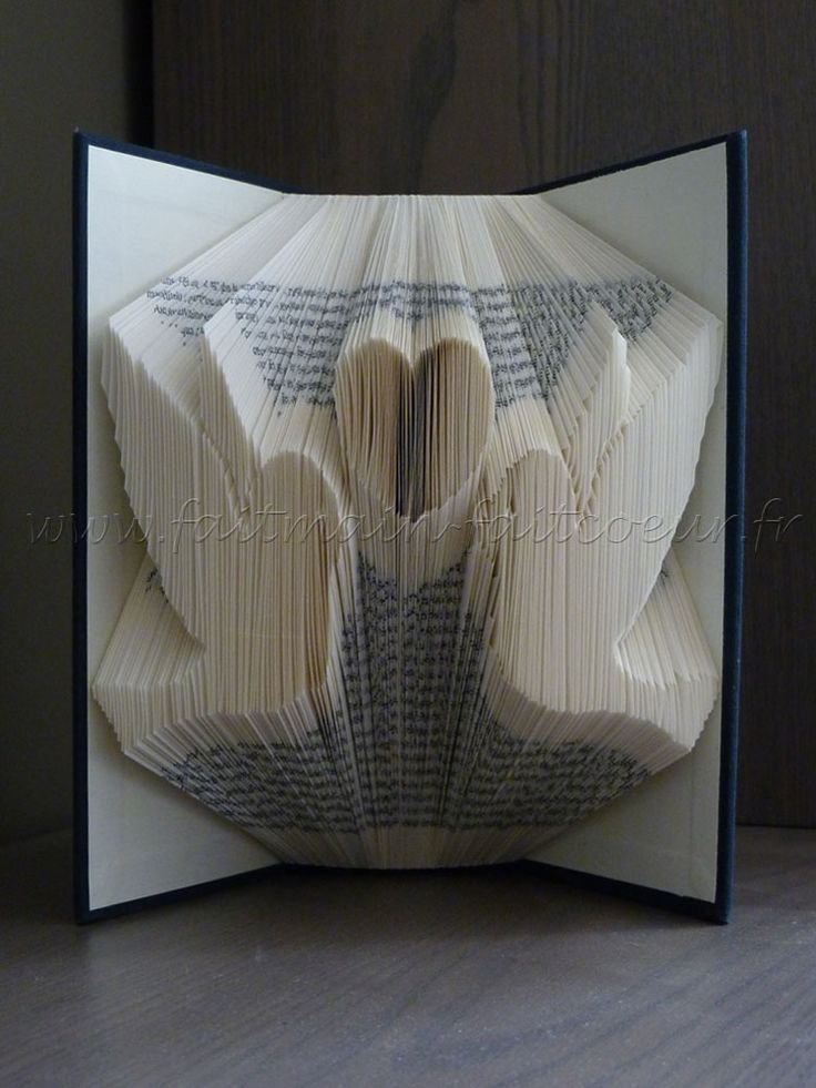 patron livre pli oiseaux amoureux loving birds folded book pattern livres pli s pinterest. Black Bedroom Furniture Sets. Home Design Ideas