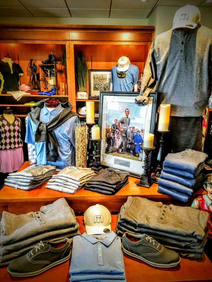 Travis Mathew spring display with Arnold Palmer memorial at Chevy Chase Country Club