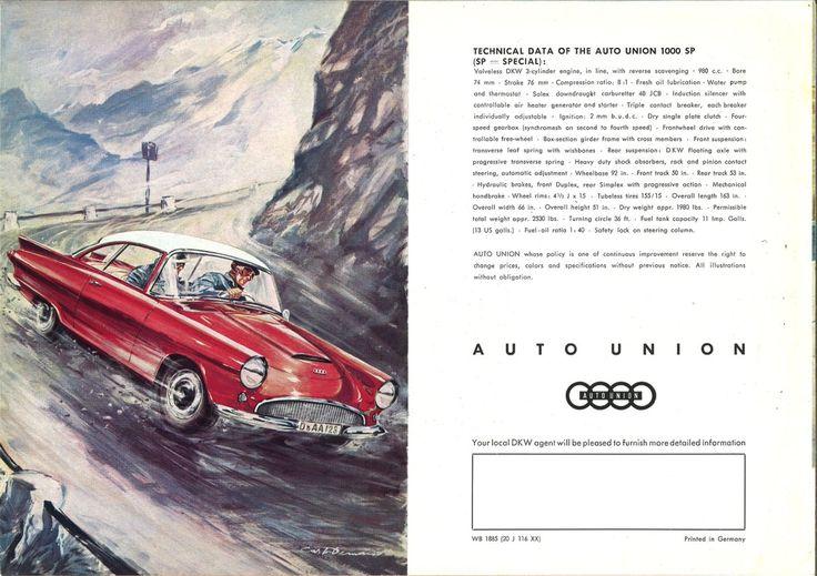 1962 Auto Union Sp 1000 Ad