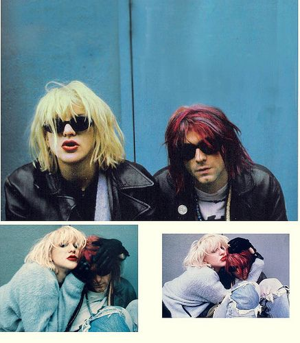 Courtney Love and Kurt Cobain