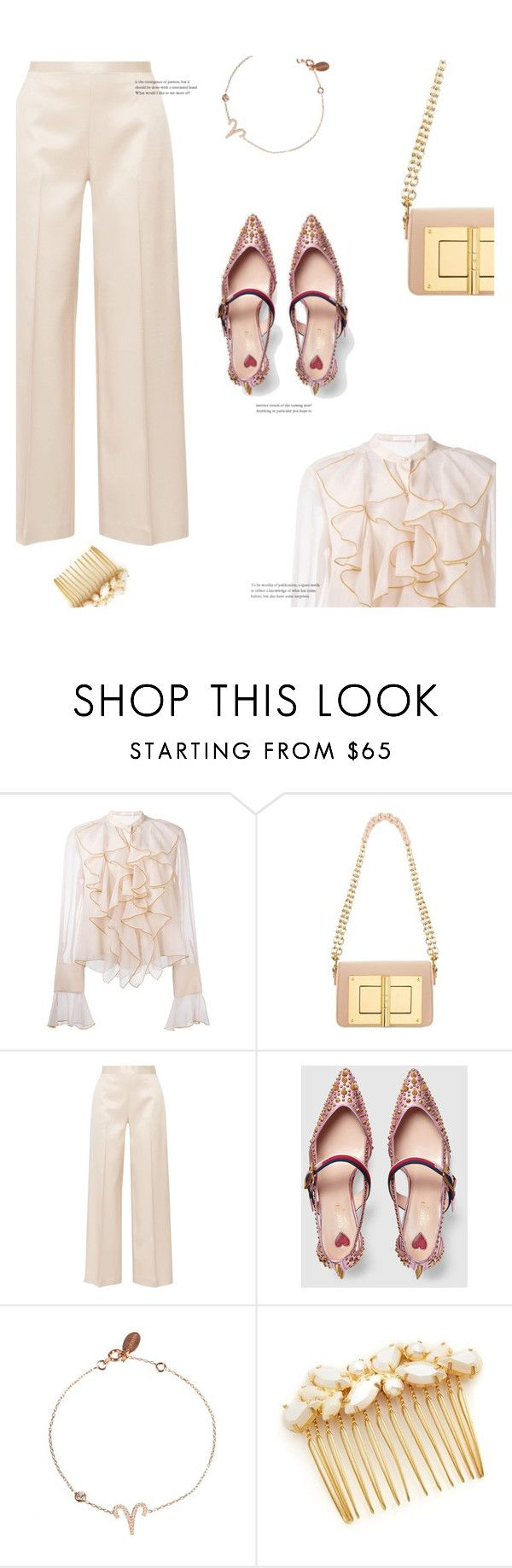 """""""♈Aries♈"""" by anja-m ❤ liked on Polyvore featuring See by Chloé, Tom Ford, The Row, Gucci, Latelita, Avigail Adam, Aries, polyvoreset and cosmicjewelry"""