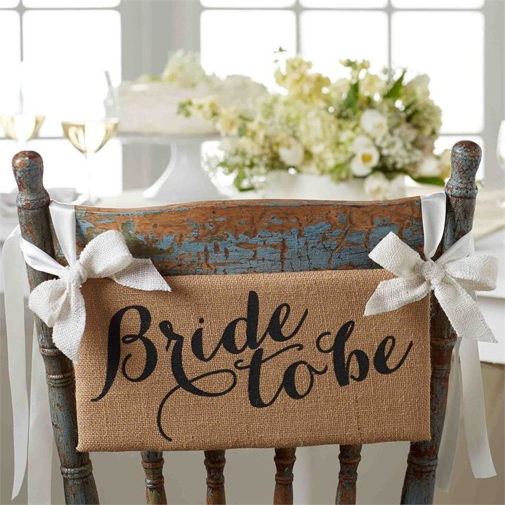 Bride To Be Chair Hanger/Sign   Living   Mud Pie
