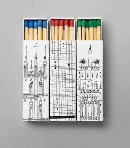 Klas Fahlen.Doodles Art, Inspiration, Colors, Packaging Design, Illustration, Graphics, Matchbox Cities, Products, Matching Boxes