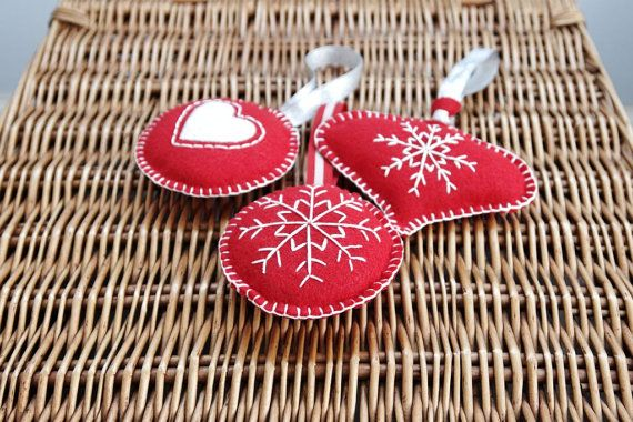 Christmas Tree Decorations by PrincessAllipops on Etsy, £7.50