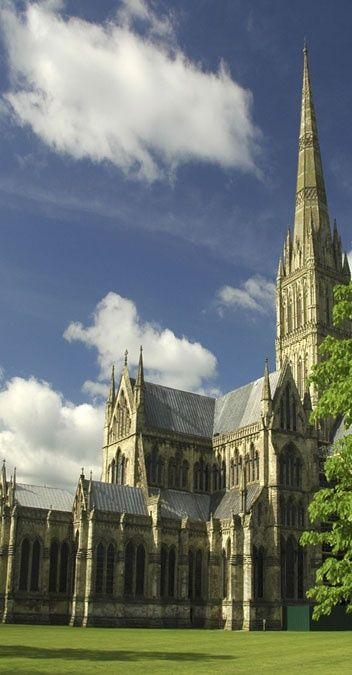 Salisbury Cathedral, it is so beautiful. Has the tallest spire in Britain.