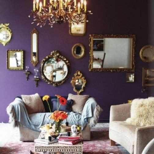 Best 25 Purple Mirror Ideas On Pinterest: Mirror Gallery Wall, Wall Mirrors No Frame And