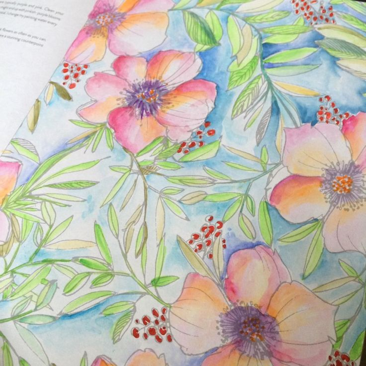 13 best Painterly Days images on Pinterest   Coloring books ...