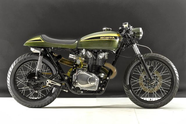 1973 Honda CB450 Cafe Racer by Hangar Cycleworks
