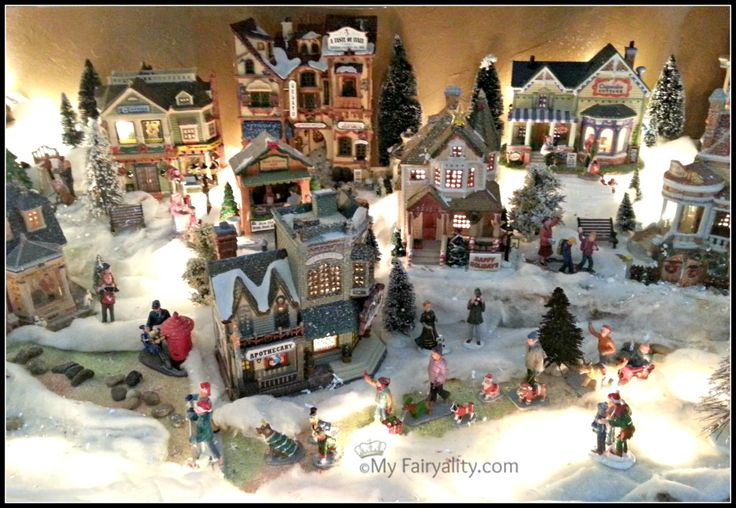 Here is a tour of our Christmas Village! There is something magical about these small towns, complete with their own atmosphere and people..getting to peek