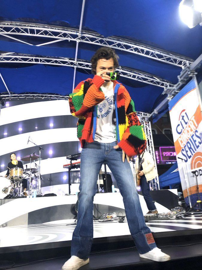 Harry Styles Today Show Rehearsal Soundchecking Sound