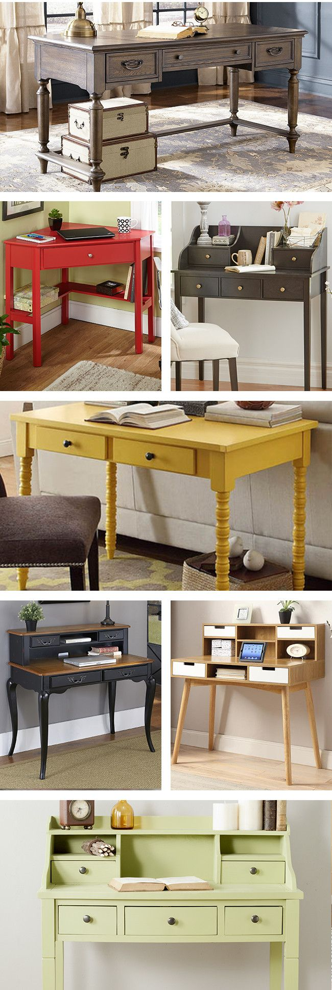 Based on your work needs, your home office and personal desk should provide storage for your supplies and paperwork, have enough space, and be a comfortable and inspiring place to work. Visit Wayfair and sign up today to get access to exclusive deals everyday up to 70% off. Free shipping on all orders over $49.