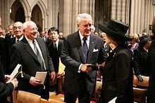 Mikhail Gorbachev - Gorbachev (left) with former Canadian Prime Minister Brian Mulroney and former British Prime Minister Margaret Thatcher at the funeral of Ronald Reagan, 11 June 2004 Wikipedia, the free encyclopedia