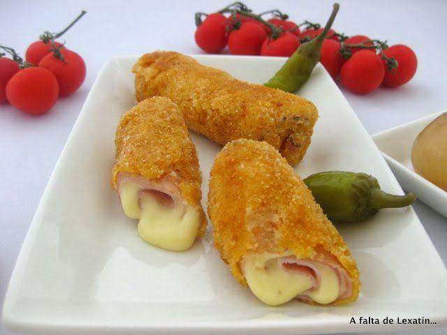 A falta de Lexatín...buenas son tortas: San Jacobos enrollados o rollos de jamón y queso