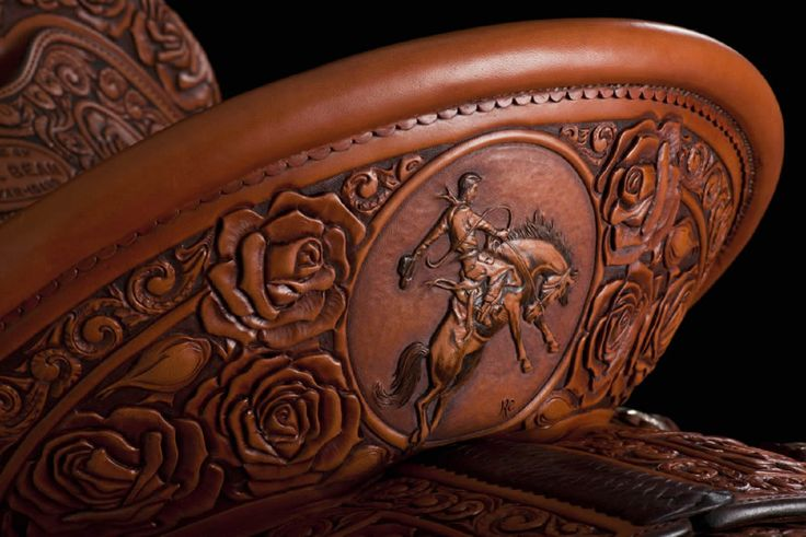 Great artistry from a pro saddle maker.