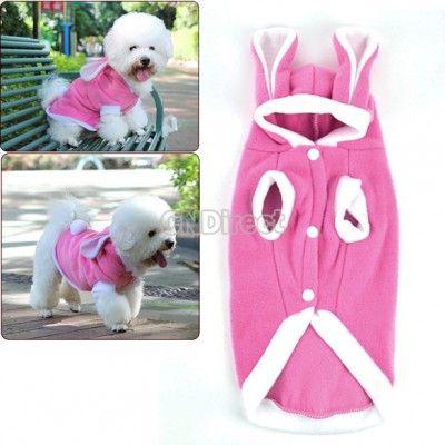 $2.87 Pink Pet/Dog/Cat Cute Rabbit Warm Pet Dog Clothes Coat