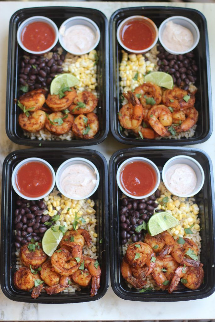 Meal Prep Monday Shrimp Taco Bowls Recipe Clean Eating