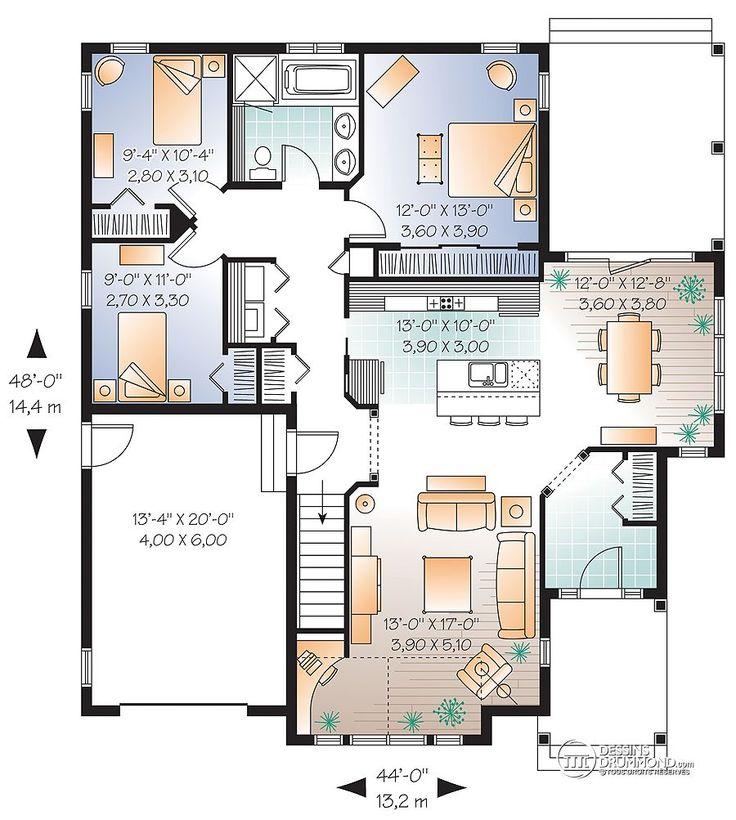 Détail du plan de Maison unifamiliale W3235