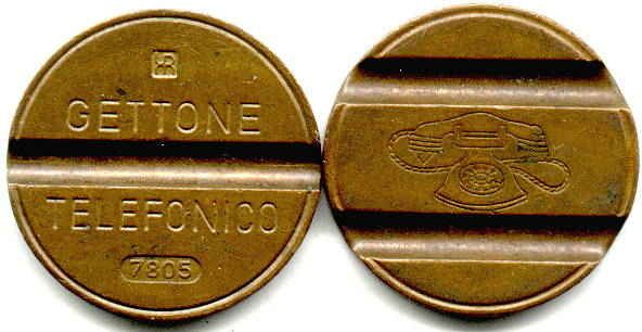 ...and this was the coin for our public telephone (we often used it as exchange money).