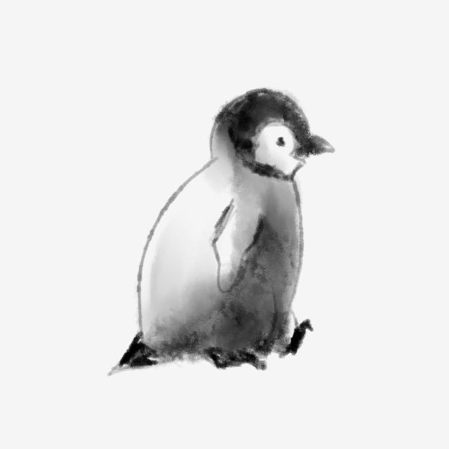 Hand Painted Ink Animal Penguin Penguin Hand Painted Ink Png Transparent Clipart Image And Psd File For Free Download Animals Cool Backgrounds Penguins
