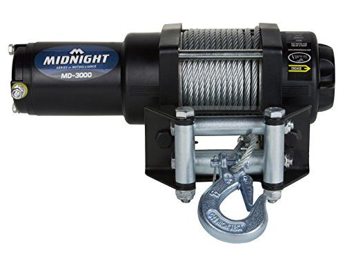 VIPER Midnight Series 3000lb ATV Winch Kit with 50 feet STEEL Cable  Limited Lifetime Warranty1.1 HP permanent magnet motor with mechanical load holding and dynamic brake50' Steel Cable and Roller Fairlead  http://industrialsupply.mobi/shop/viper-midnight-series-3000lb-atv-winch-kit-with-50-feet-steel-cable/