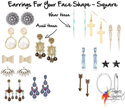 Earrings for Your Face Shape - Square | Inside Out Style: