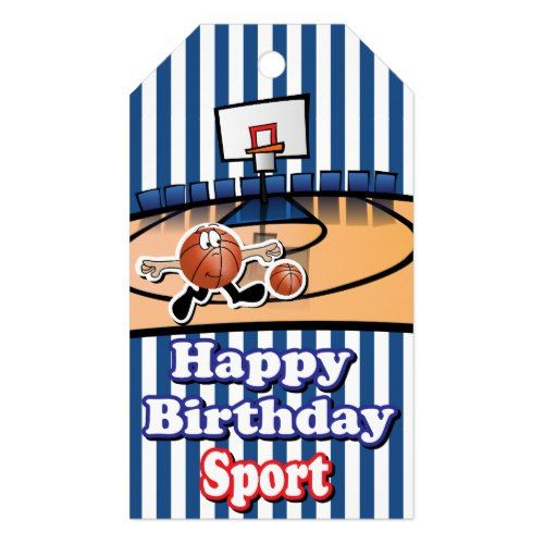 Happy Birthday Sport | Basketball Gift Tags