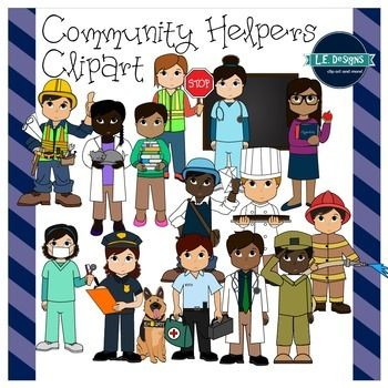This 30-piece set is loaded with adorable community helpers clipart! Included are 15 colored images and 15 black and white (not included in the preview).Images in this set include:- Doctor- Nurse- Dentist- Mailman- Crossing Guard- Construction Worker- Paramedic- Firefighter- Police Officer- Police Dog- Soldier- Librarian- Chef- Teacher- VeterinarianThese images are in high resolution and can be enlarged.