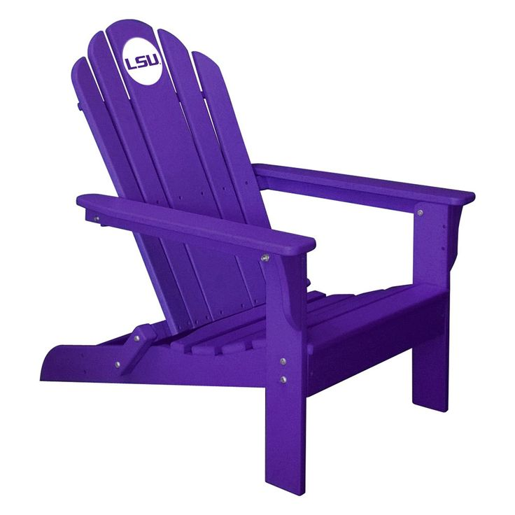 LSU Tigers Folding Composite Adirondack Patio Chair in Purple