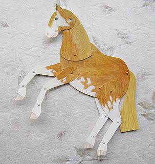 draw out shapes, get them to cut and colour and put together: 3 D Projects, Triangles, Paper Art, Paper Projects, Articulated Paper, Paper Horses, Preschool, Paper Doll