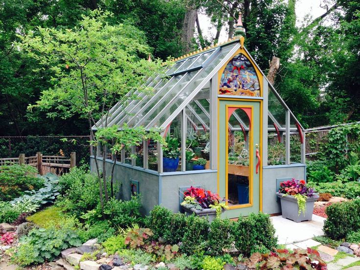 10 x 12 tudor greenhouse with unique color pallet beautiful she shed option - Garden Sheds With Greenhouse