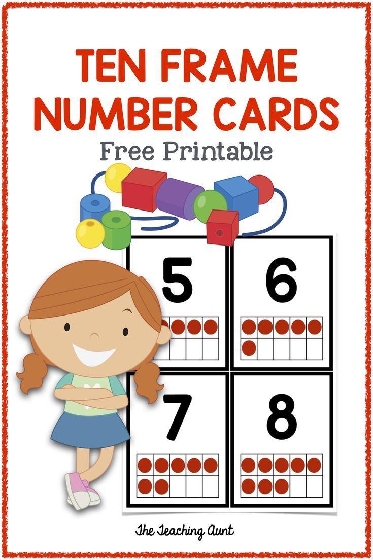 Ten Frames Flashcards First Grade In 2020 Ten Frame Flashcards Preschool Freebies