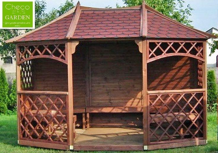 12ft x 9ft (ex 13ft x #10ft) garden #wooden pavilion #gazebo (sandringham) !sale!,  View more on the LINK: http://www.zeppy.io/product/gb/2/221830482116/