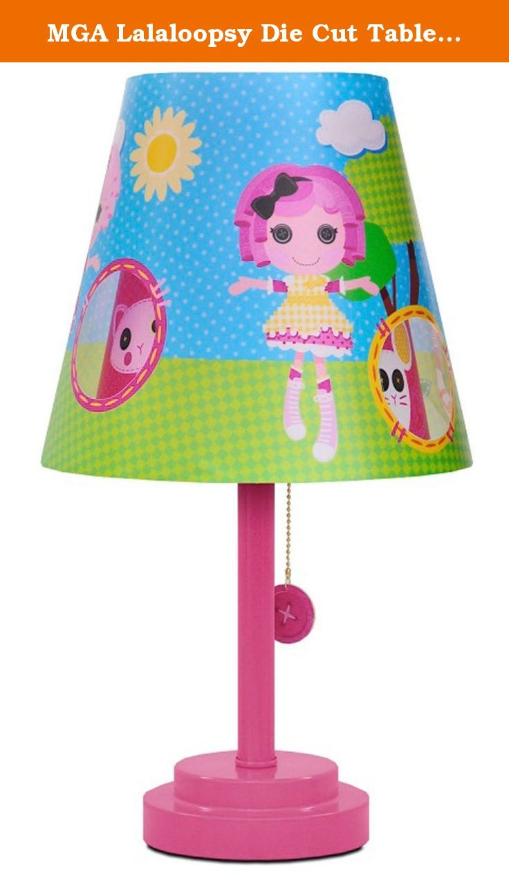 Colorful table lamps - Mga Lalaloopsy Die Cut Table Lamp Add Light And Color To Your Child S Bedroom With