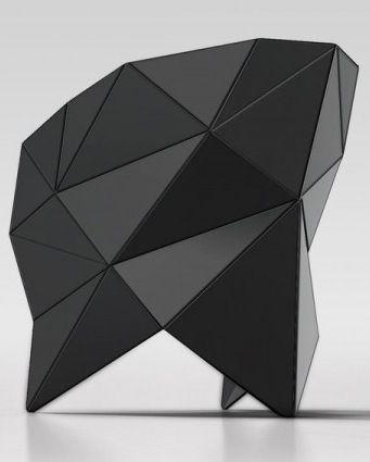 Modern Chair Inspired by Polyhedron Origami – ORIC Chair. - Visit our entire Stealth Design board or our various design inspiration pinboards.