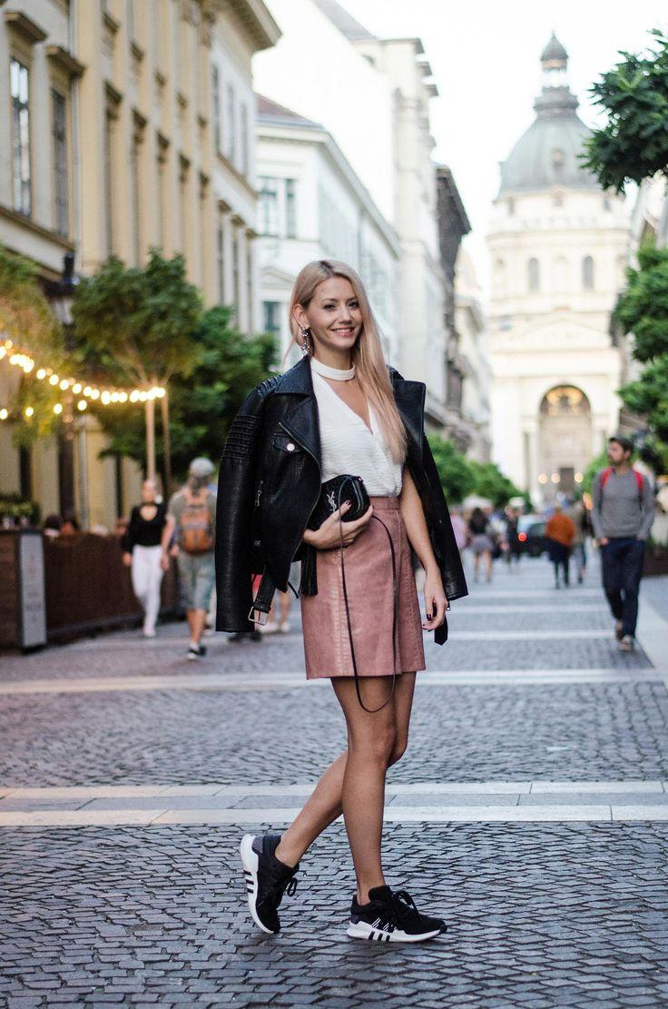 Skirt – Chicwish / Jacket – ASOS / Shoes – Adidas EQT / Top – F&F / Bag – YSL