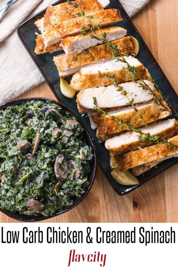Low Carb Chicken Keto Meal Prep Flavcity With Bobby Parrish Recipe Chicken Recipes Creamed Spinach Recipe Low Carb Chicken