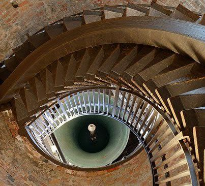 The Eye is formed by stairs and a bell inside the Lamberti tower, Verona. It also makes everything else seem not as cool.