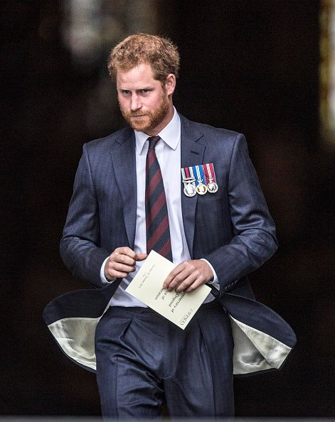 Royal Family Around the World: Prince Harry Marks The 75th Anniversary Of Explosive Ordnance Disposal (EOD) Across The British Armed Forces at St Paul's Cathedral on October 22, 2015 in London, United Kingdom.