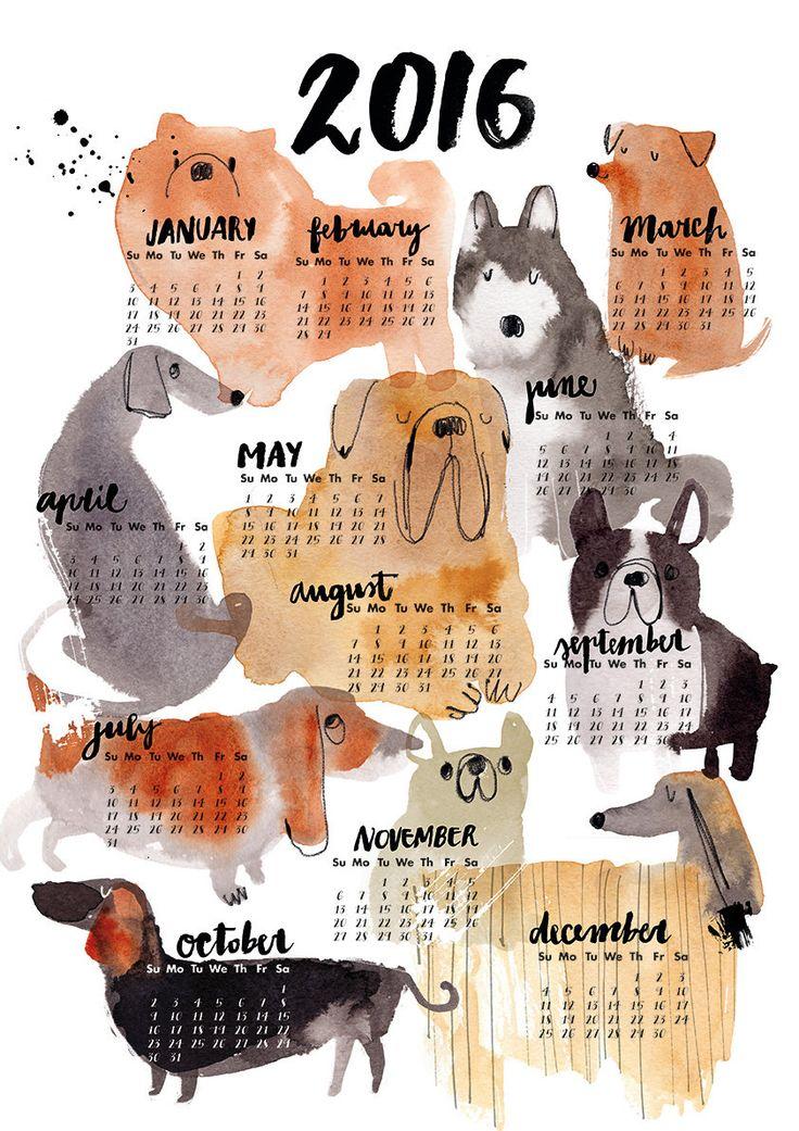 Modern Dog Calendars for 2016