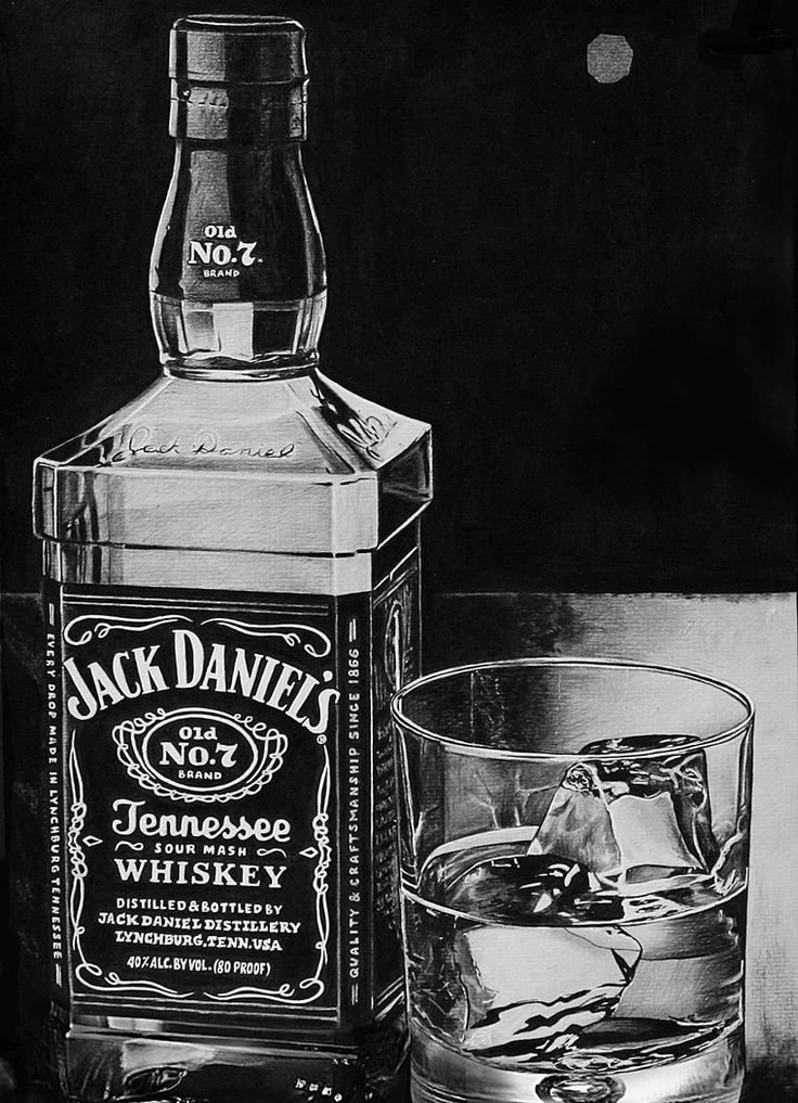 Pencil Drawing - Jack Daniels by LazzzyV