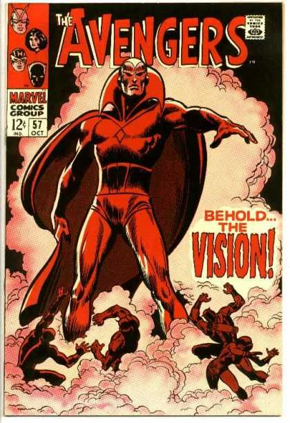 This is a classic cover for the #Avengers featuring the first appearance of the android Vision - great John Buscema artwork!