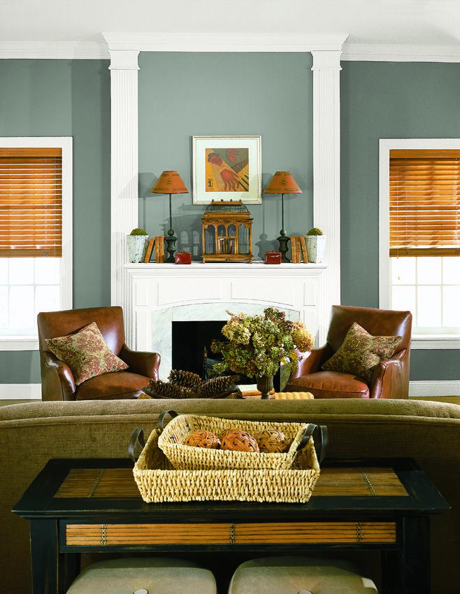 Such A Warm Calming Room The Colors Are Boca Raton Blue 771 White Dove Oc 17 Ben Moore